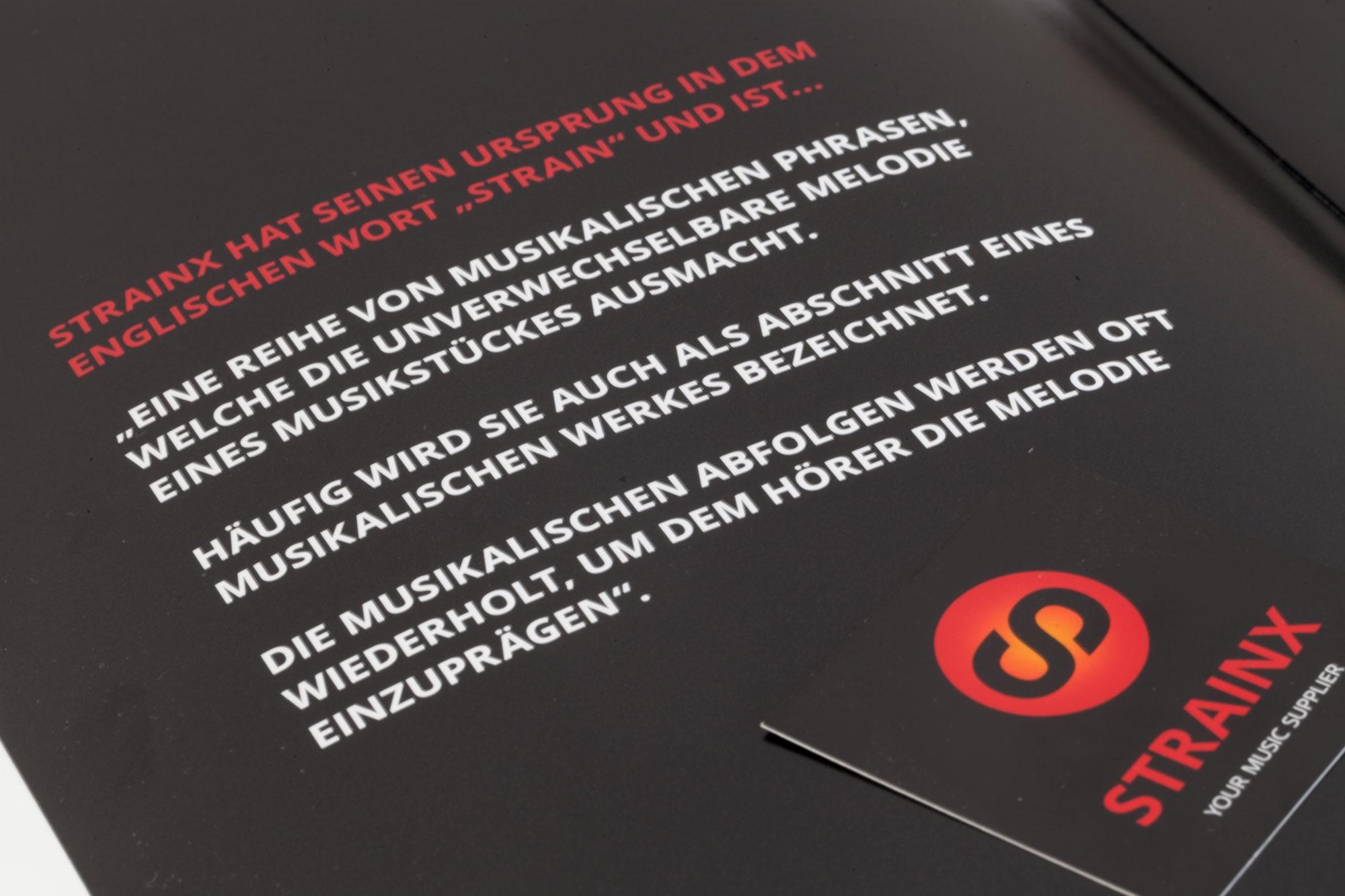 Filmprodukion, Flyer & Logo, STRAINX