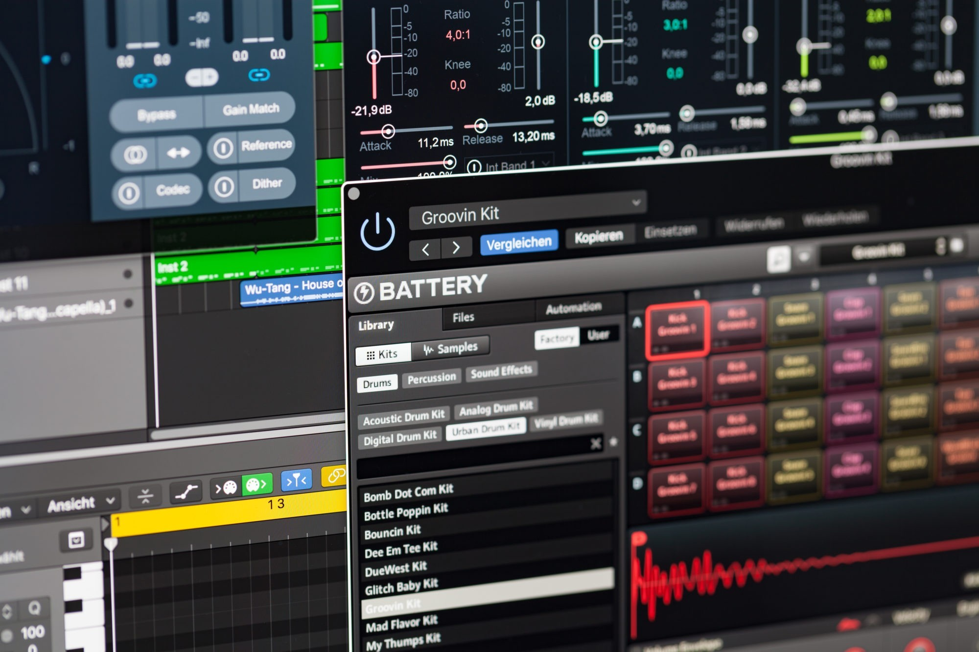 Instrumentals & Beats, Native Instruments Battery, STRAINX